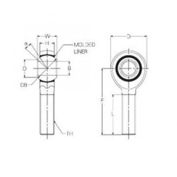 6 mm x 18 mm x 6 mm  NMB RBM6E Rolamentos simples