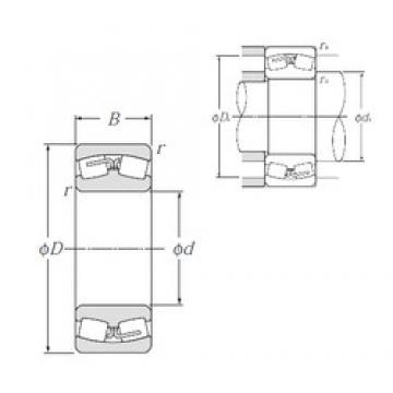 100 mm x 215 mm x 73 mm  NTN 22320B Rolamentos esféricos de rolamentos
