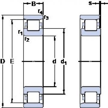 60 mm x 110 mm x 22 mm  SKF N 212 ECP Rolamentos de esferas de impulso