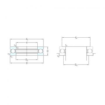 SKF 51100 Rolamentos de esferas de impulso