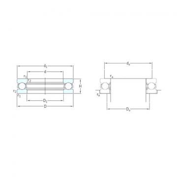 SKF 51268F Rolamentos de esferas de impulso