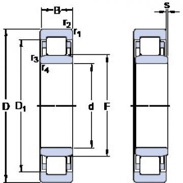 170 mm x 260 mm x 42 mm  SKF NU 1034 M Rolamentos de esferas de impulso