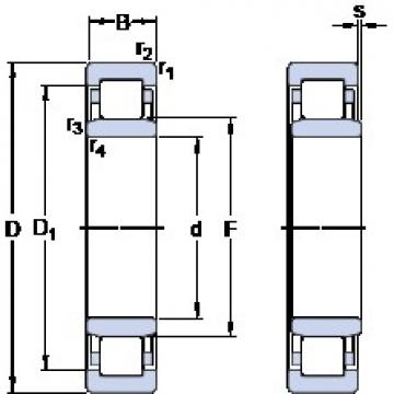 55 mm x 100 mm x 21 mm  SKF NU 211 ECML Rolamentos de esferas de impulso
