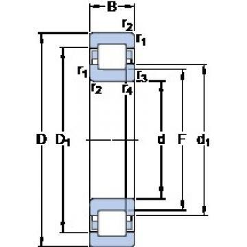 90 mm x 190 mm x 43 mm  SKF NUP 318 ECM Rolamentos de esferas de impulso