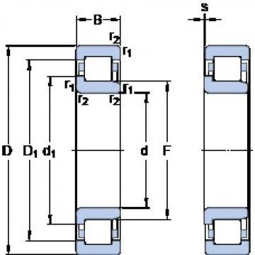530 mm x 710 mm x 82 mm  SKF NJ 19/530 ECM/HB1 Rolamentos de esferas de impulso