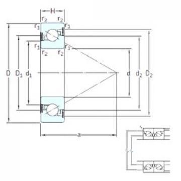 55 mm x 120 mm x 20 mm  SKF BSD 55120 CG-2RZ Rolamentos de esferas de impulso