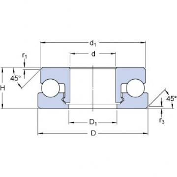 SKF 51206 V/HR11T1 Rolamentos de esferas de impulso