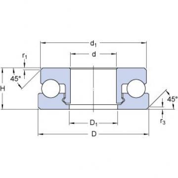 SKF 51207 V/HR22T2 Rolamentos de esferas de impulso