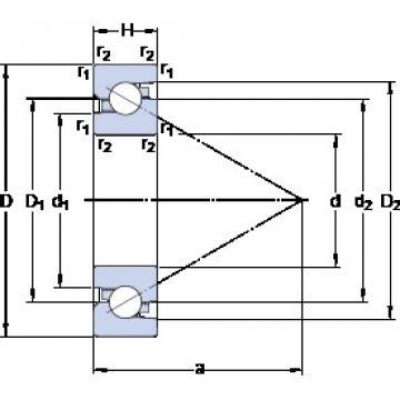 SKF BSD 55100 C Rolamentos de esferas de impulso