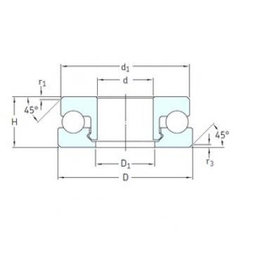 SKF 51108V/HR22T2 Rolamentos de esferas de impulso