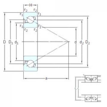 60 mm x 110 mm x 22 mm  SKF BSA 212 CG Rolamentos de esferas de impulso